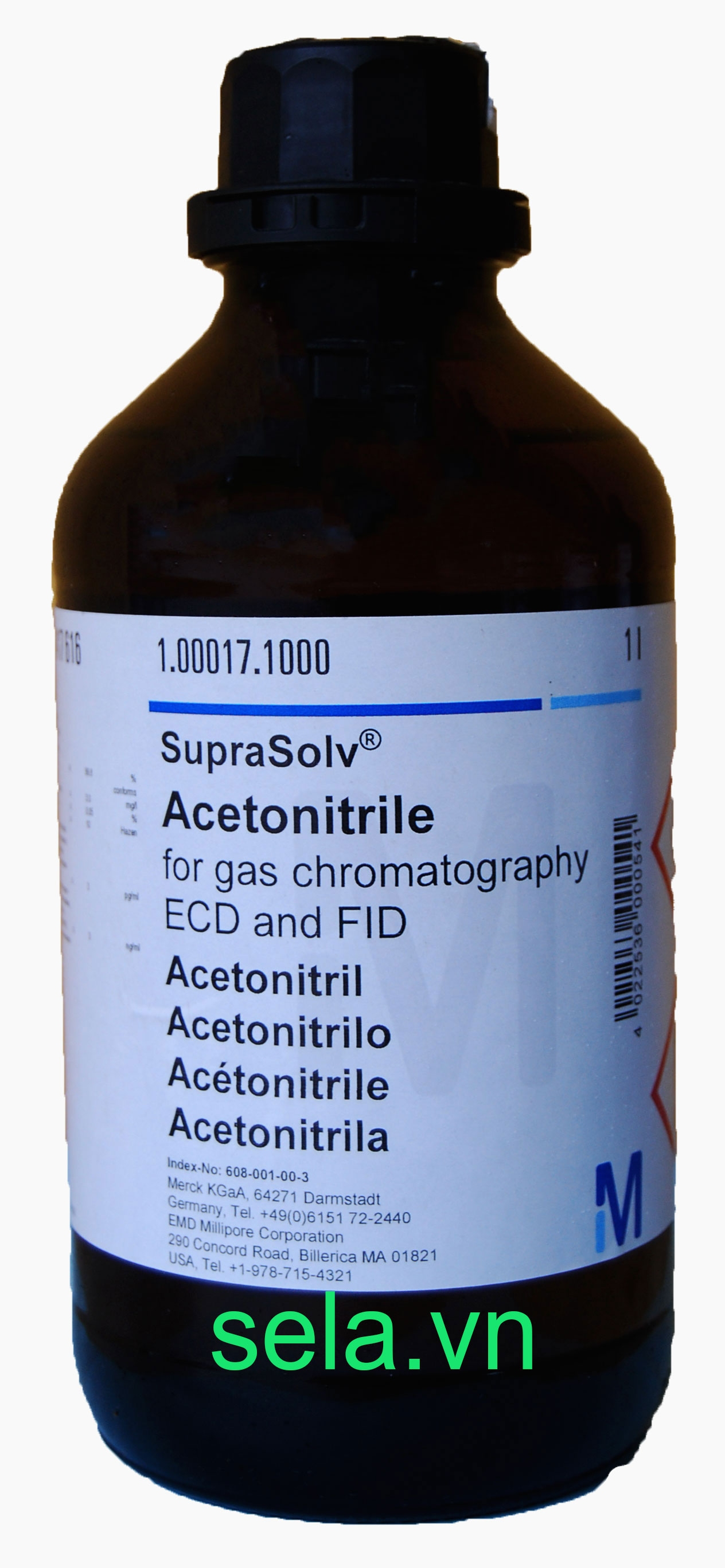 Acetonitrile for gas chromatography ECD and FID SupraSolv®