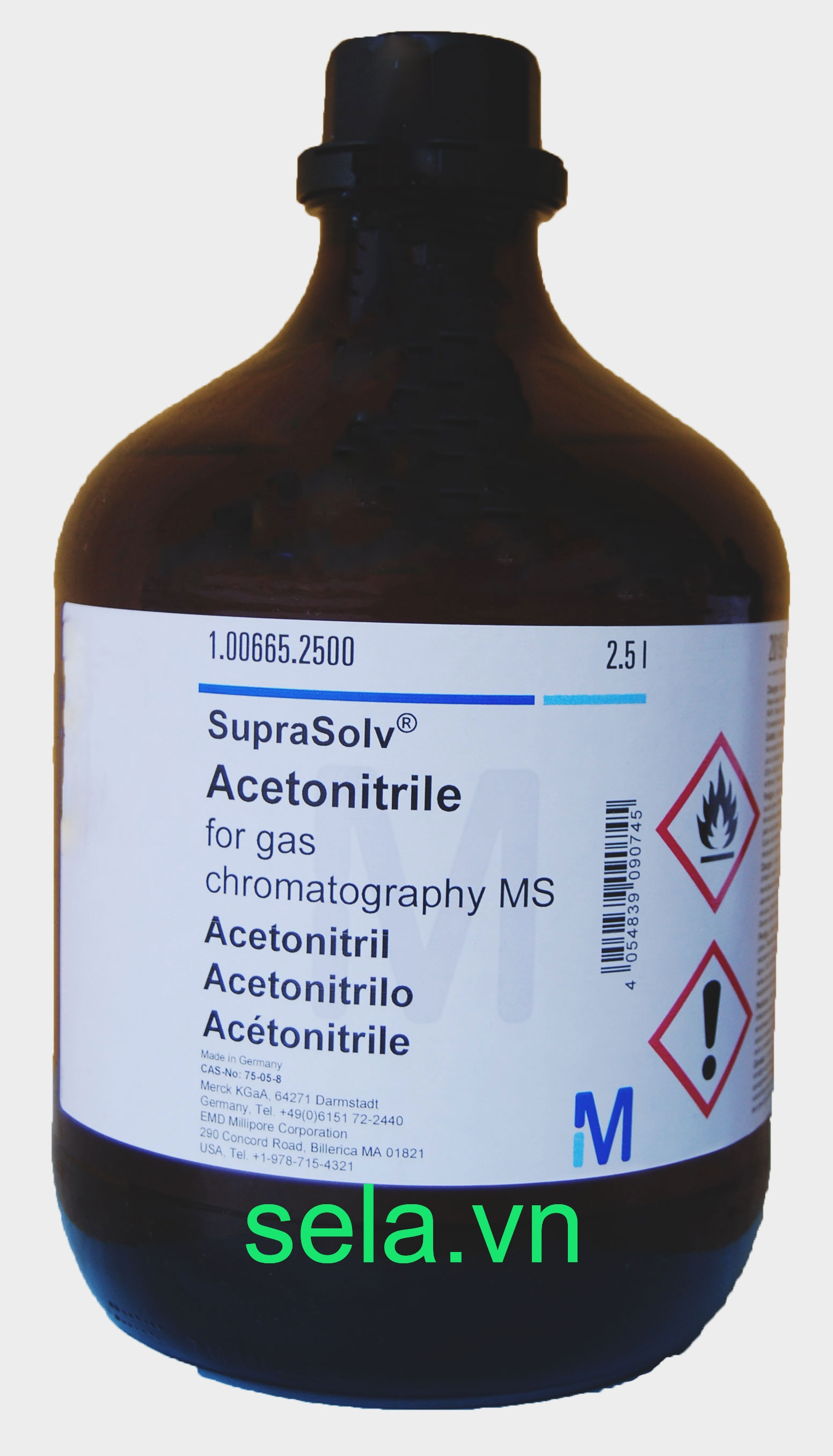 Acetonitrile for gas chromatography MS SupraSolv®