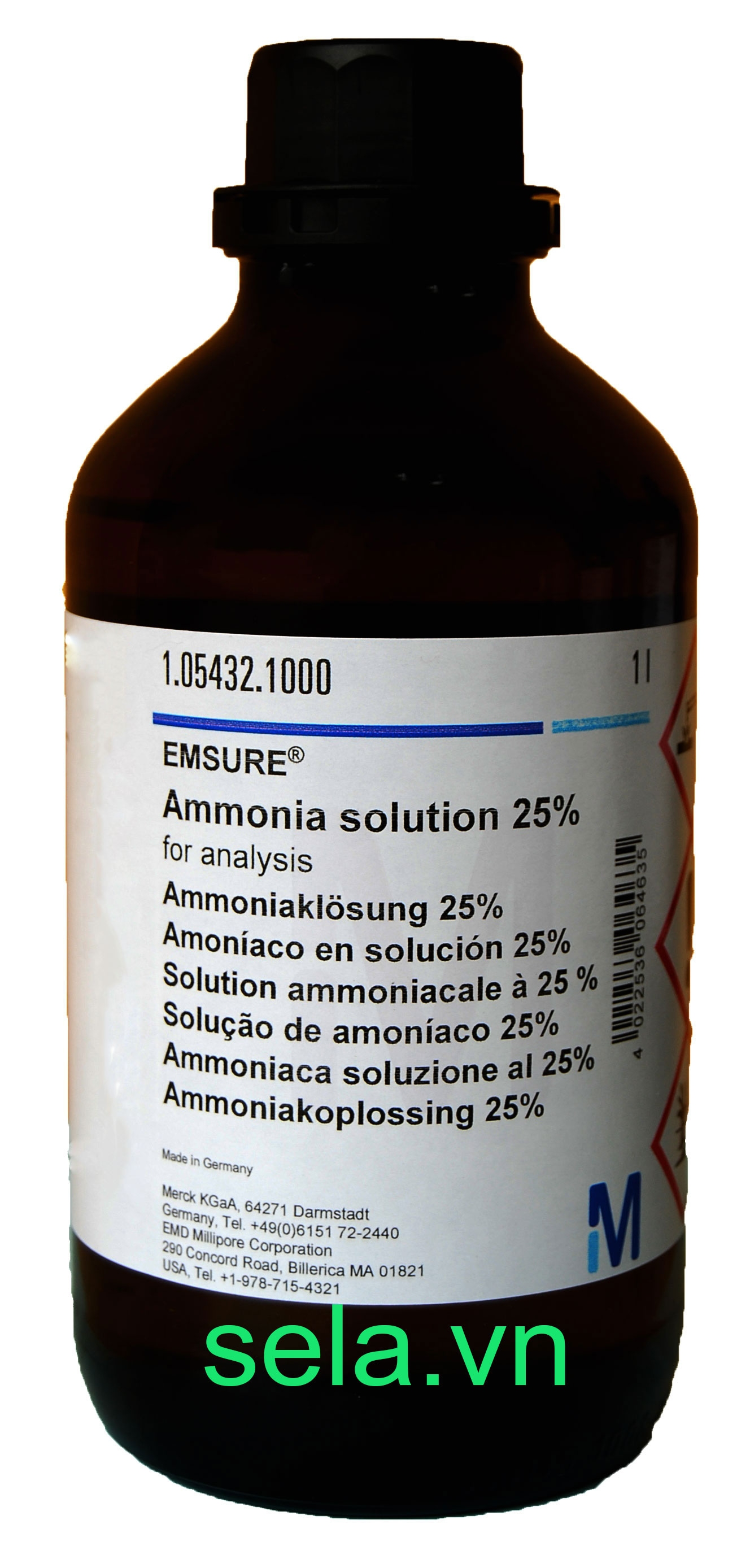 Ammonia solution 25% for analysis EMSURE®