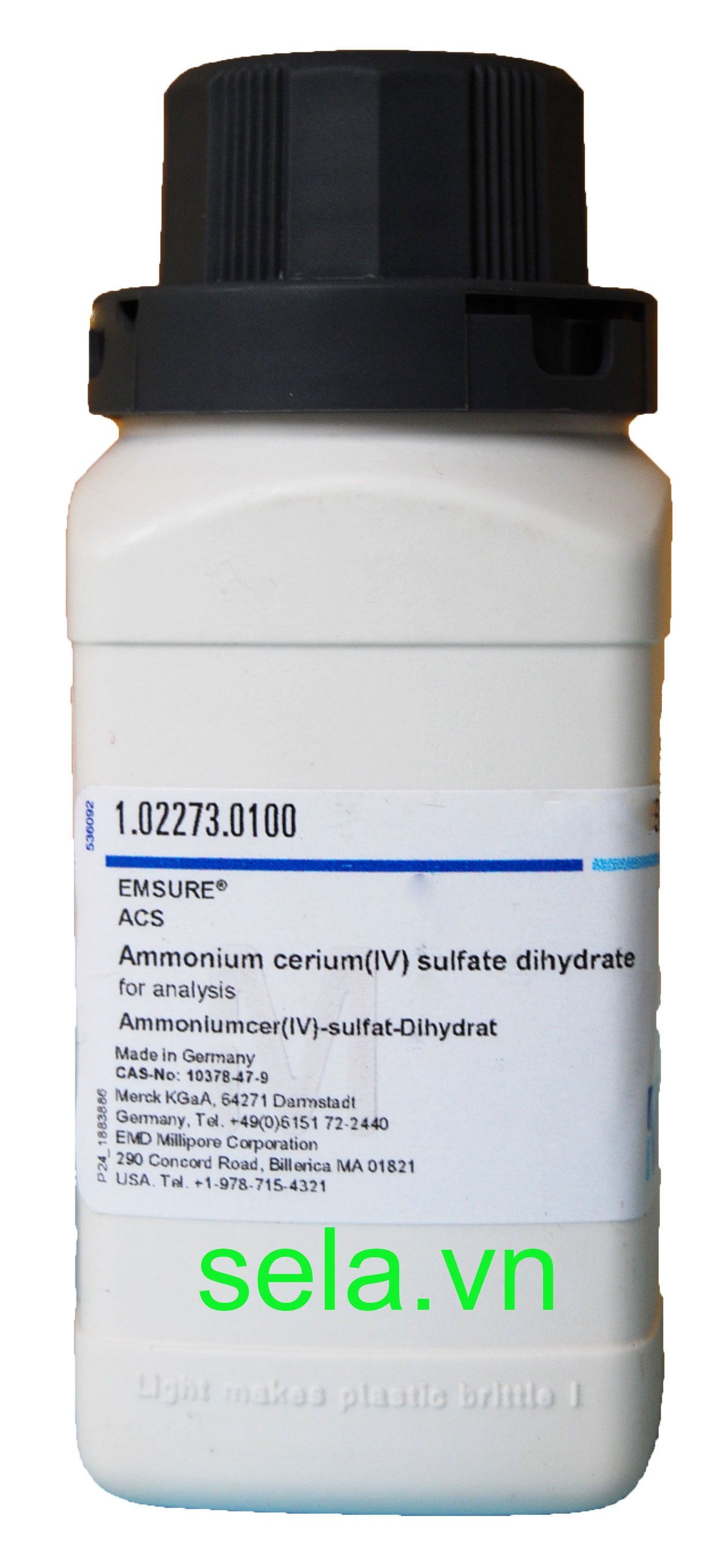Ammonium cerium(IV) sulfate dihydrate for analysis EMSURE® ACS