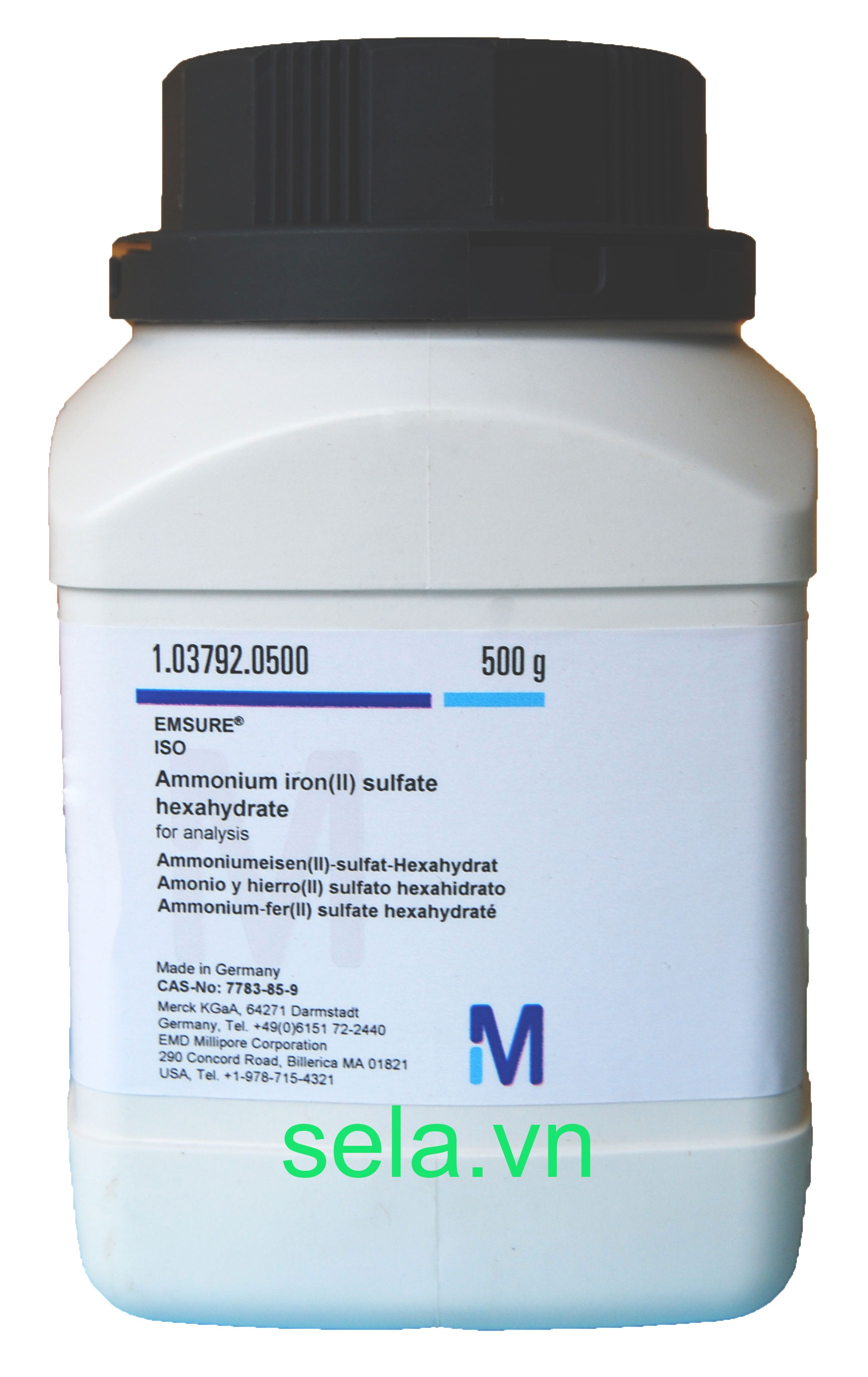 Ammonium iron(II) sulfate hexahydrate for analysis EMSURE® ISO