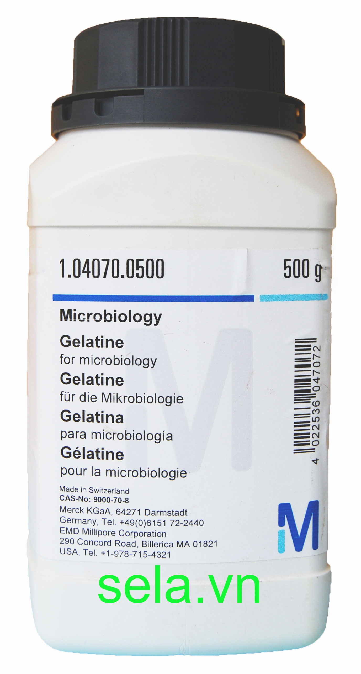 Gelatine for microbiology