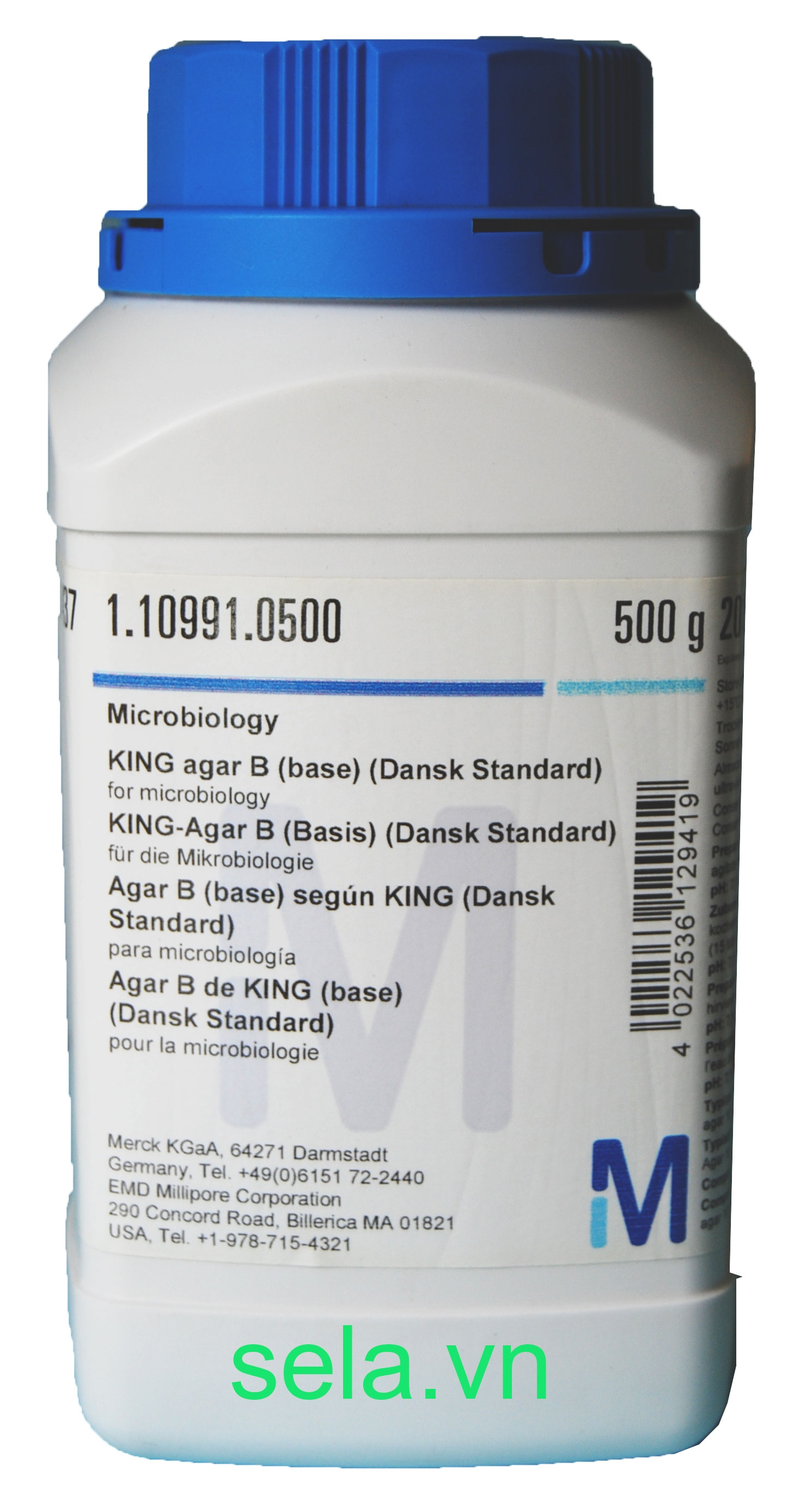 KING agar B (base) (Dansk Standard) for microbiology