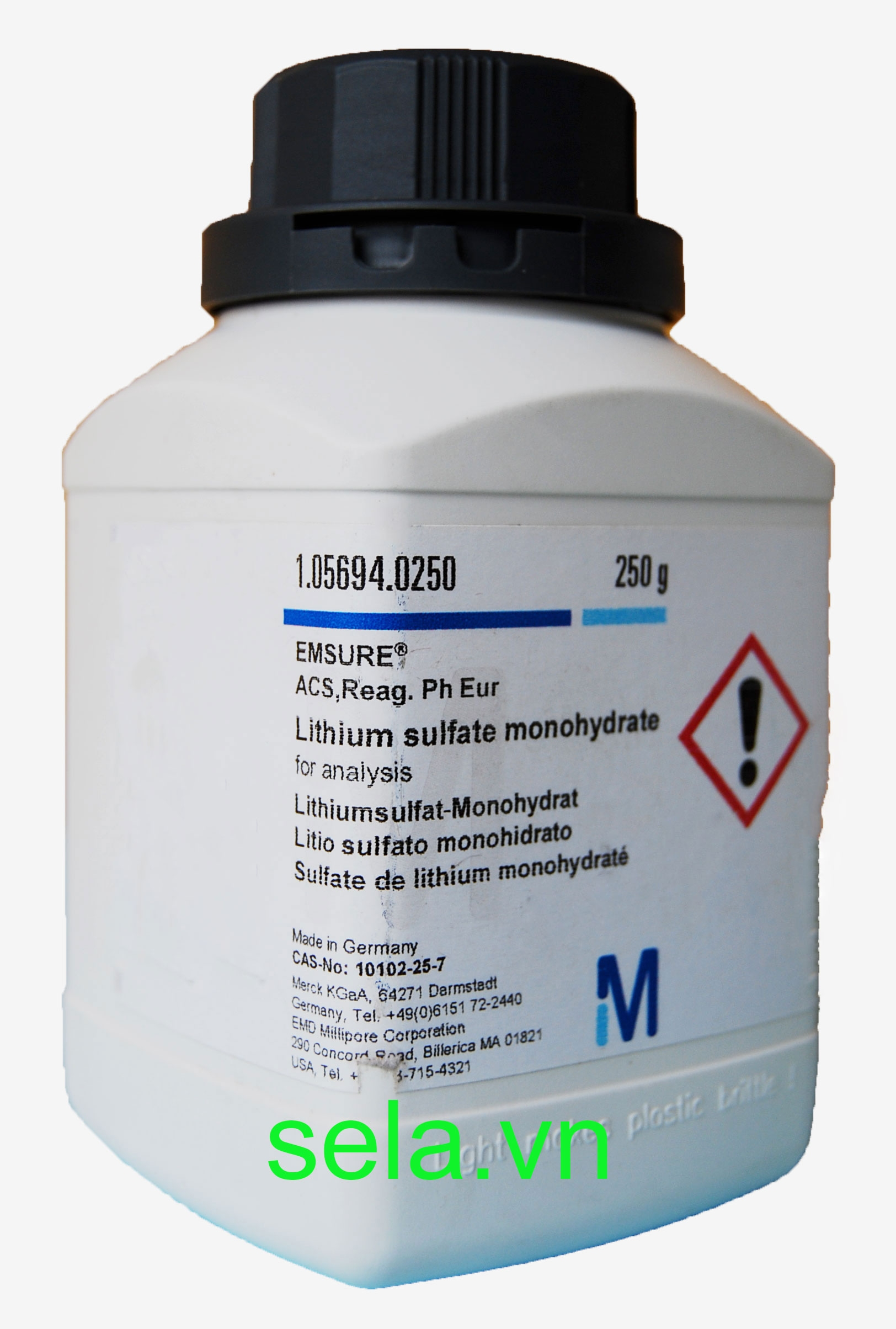Lithium sulfate monohydrate for analysis EMSURE® ACS,Reag. Ph Eur