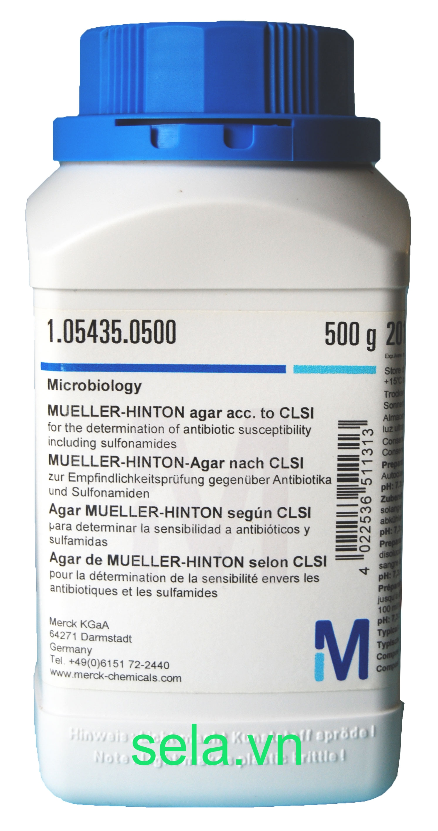 MUELLER-HINTON agar acc. to CLSI for the determination of antibiotic susceptibility including sulfonamides