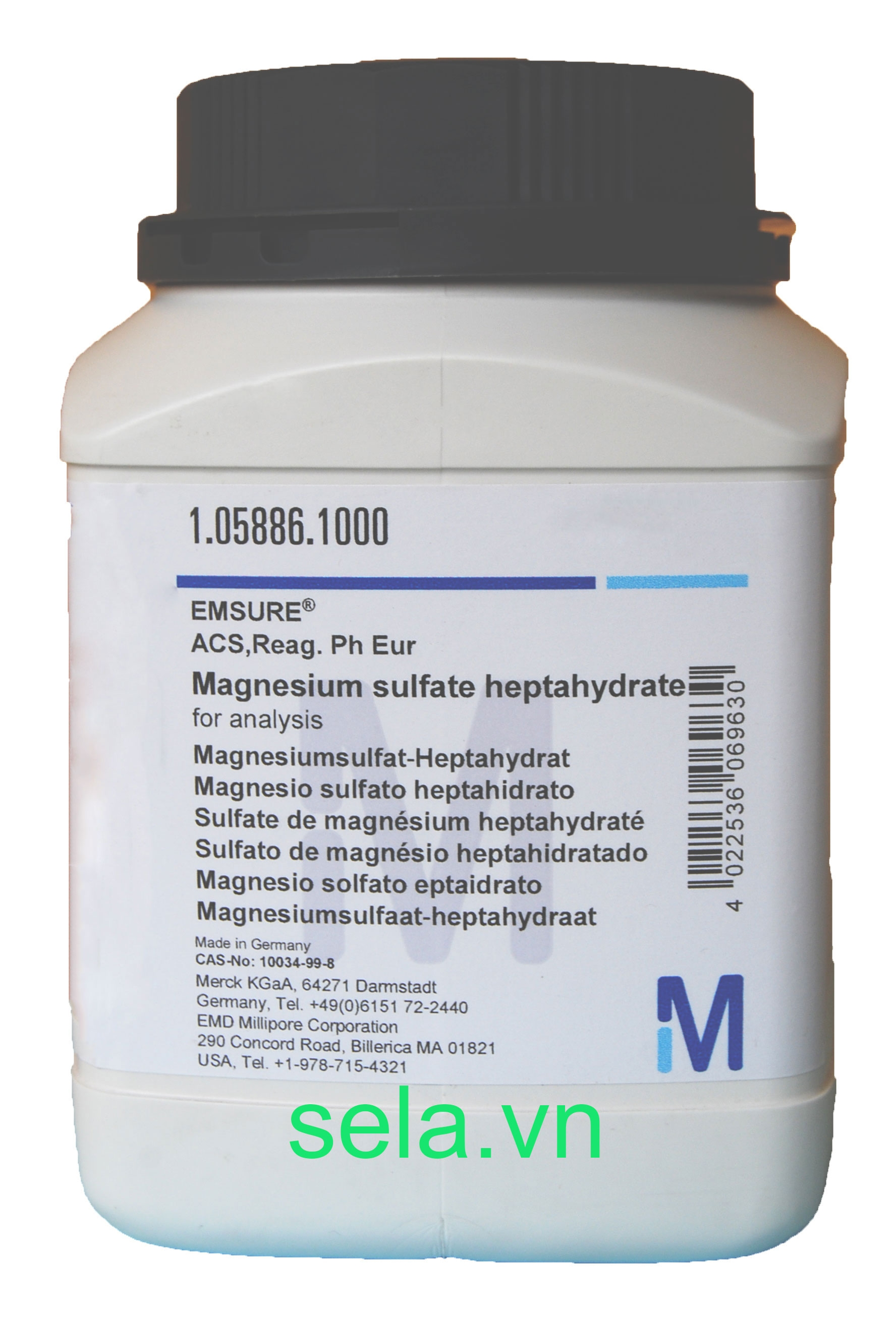 Magnesium sulfate heptahydrate for analysis EMSURE® ACS,Reag. Ph Eur