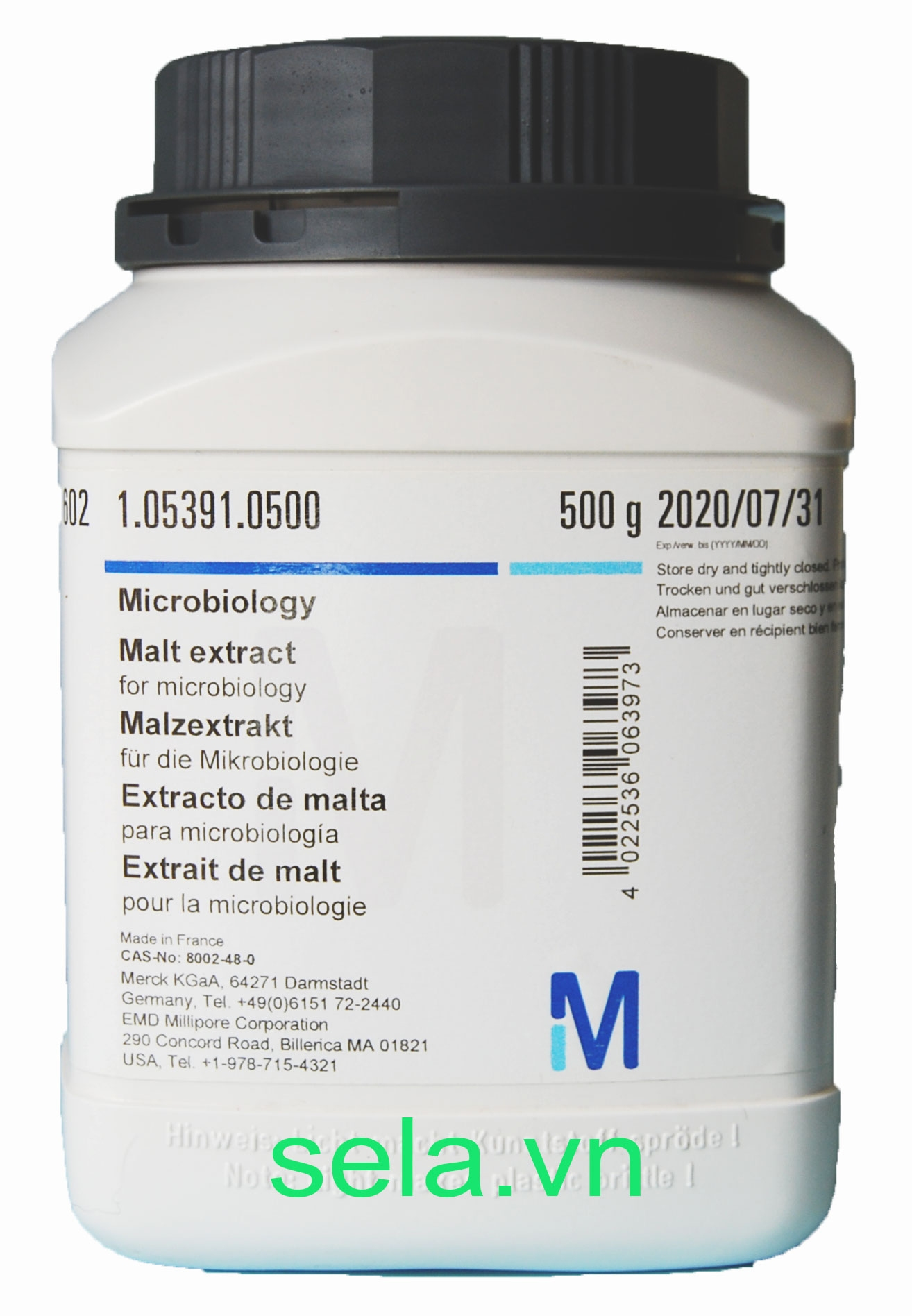 Malt extract for microbiology