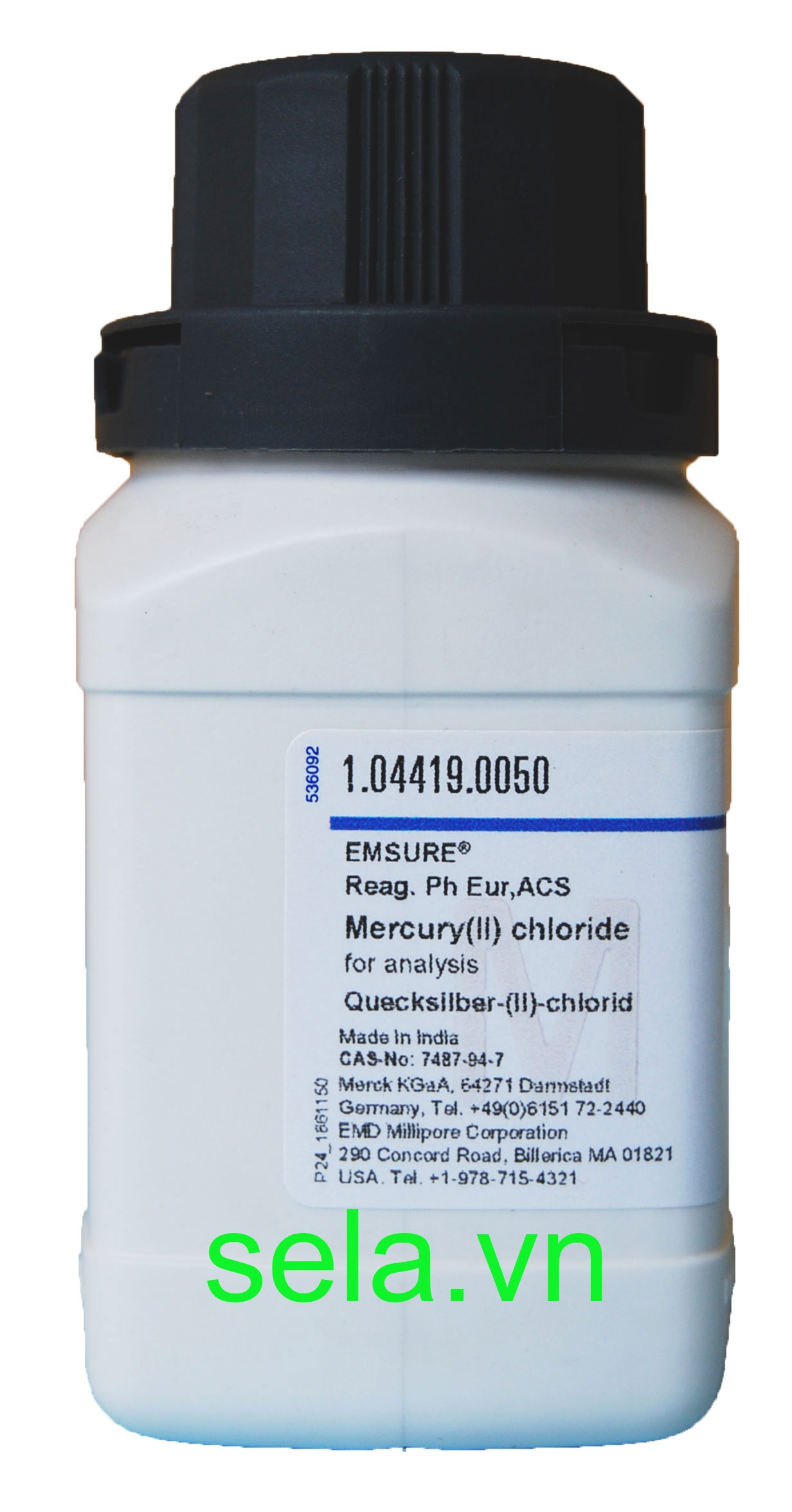 Mercury(II) chloride for analysis EMSURE® Reag. Ph Eur,ACS