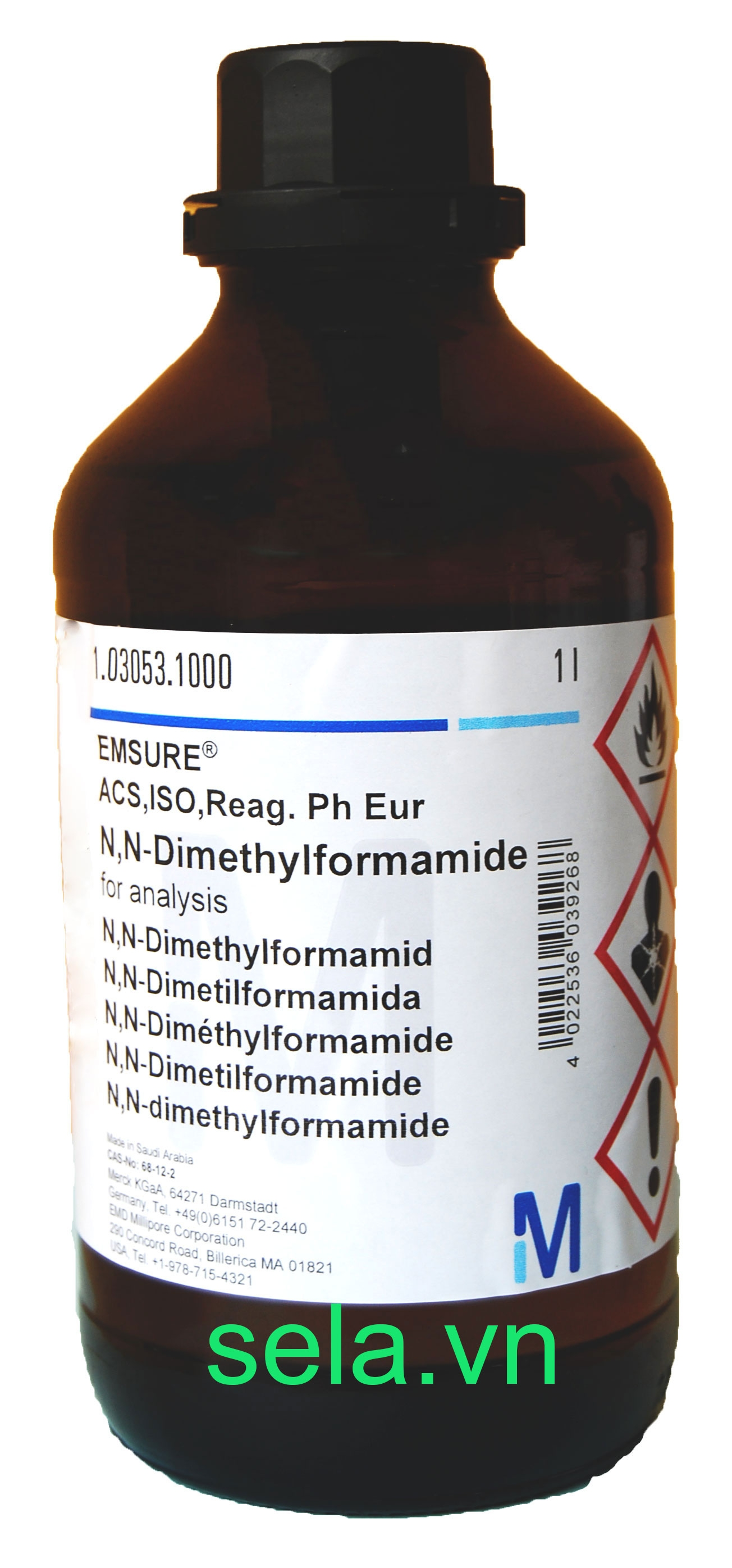 N,N-Dimethylformamide for analysis EMSURE® ACS,ISO,Reag. Ph Eur