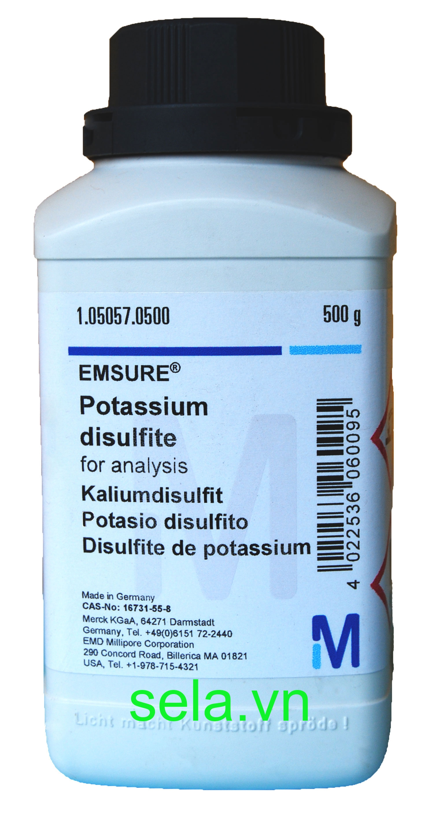 Potassium disulfite for analysis EMSURE®