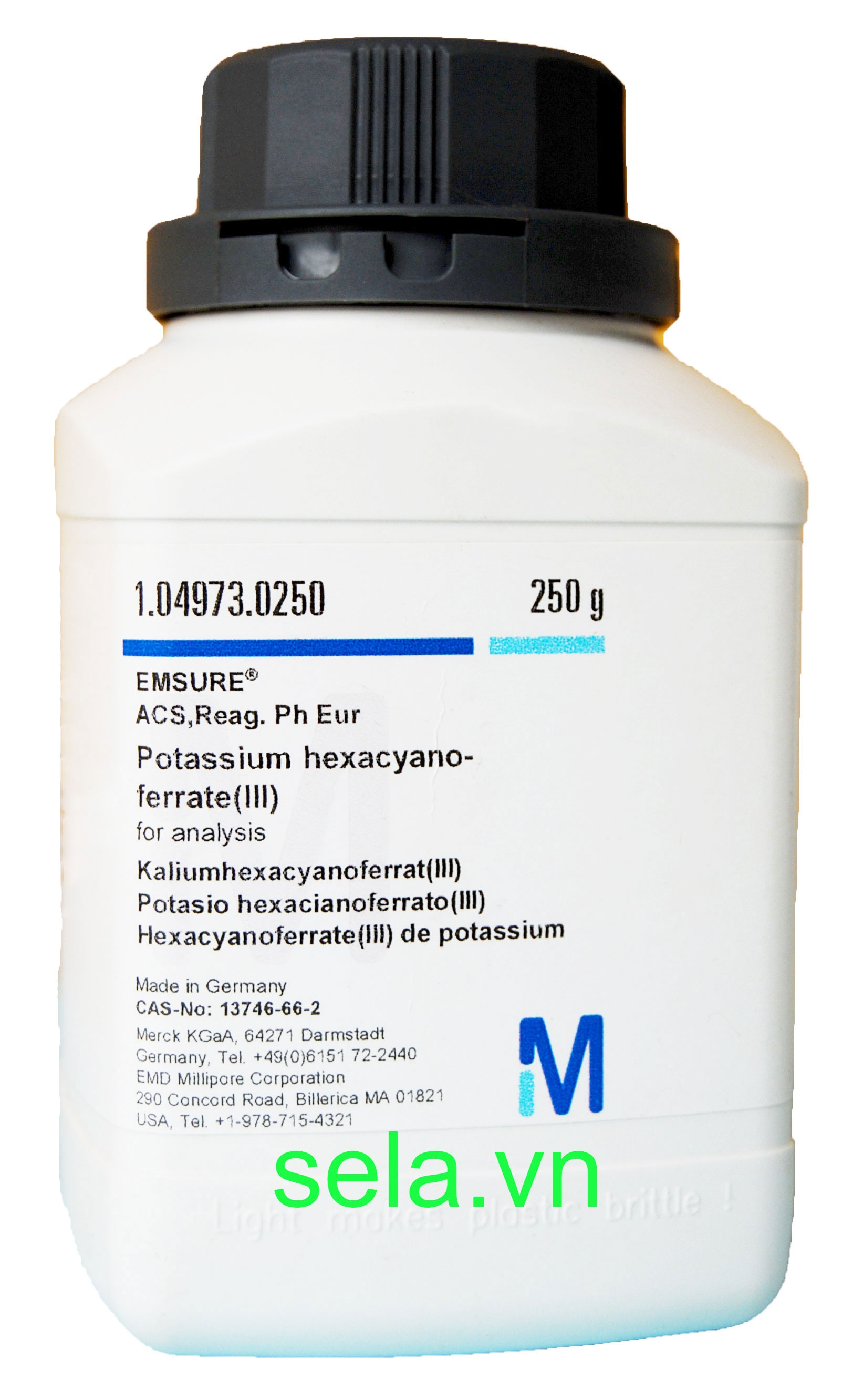 Potassium hexacyanoferrate(III) for analysis EMSURE® ACS,Reag. Ph Eur
