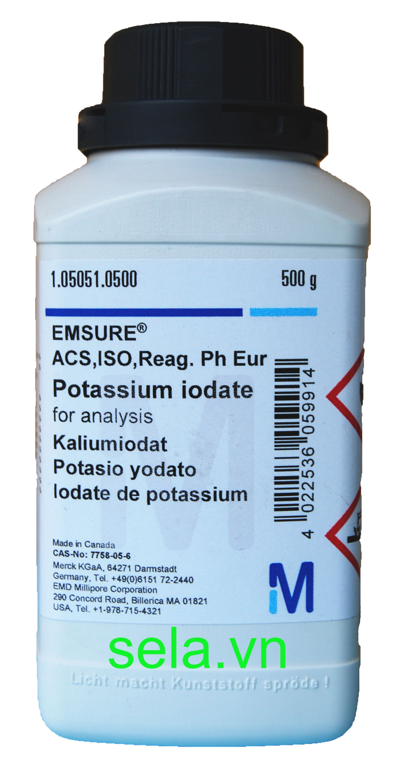 Potassium iodate for analysis EMSURE® ACS,ISO,Reag. Ph Eur