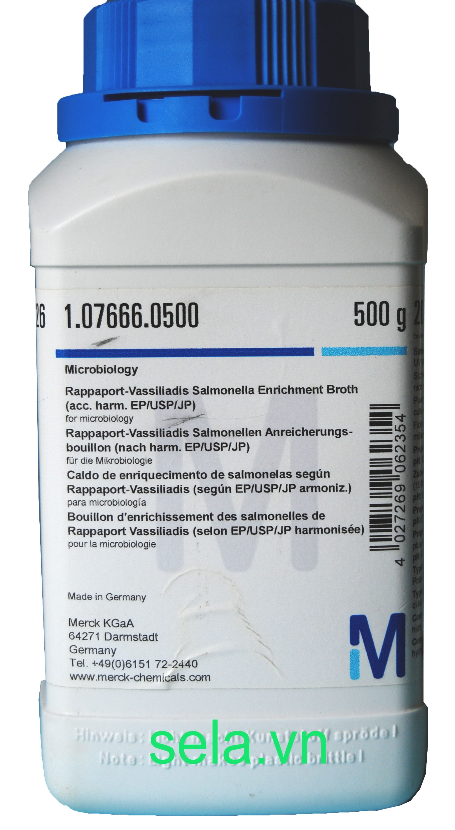 Rappaport-Vassiliadis Salmonella Enrichment Broth (acc. harm. EP/USP/JP) for microbiology