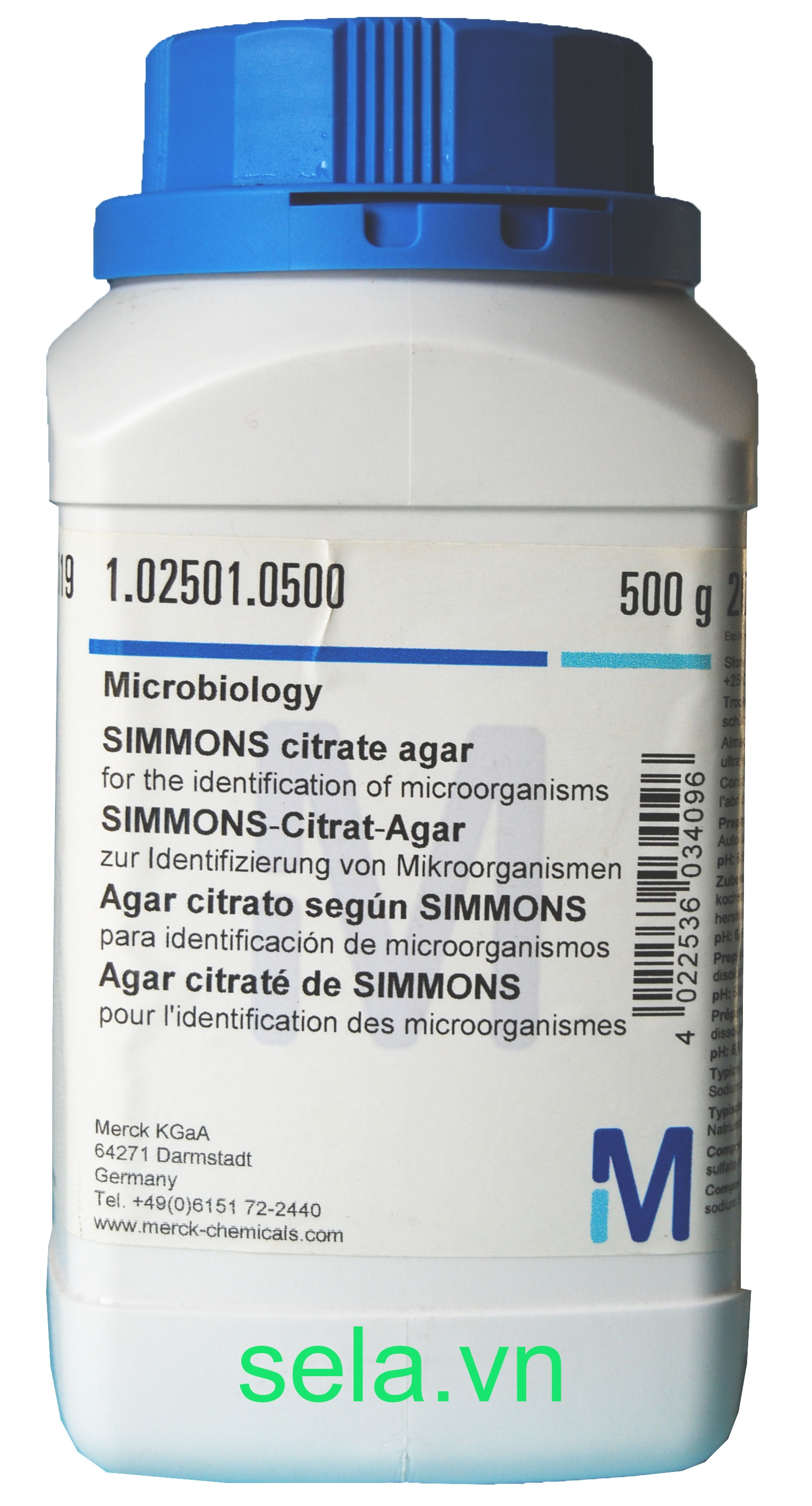 SIMMONS citrate agar for the identification of microorganisms