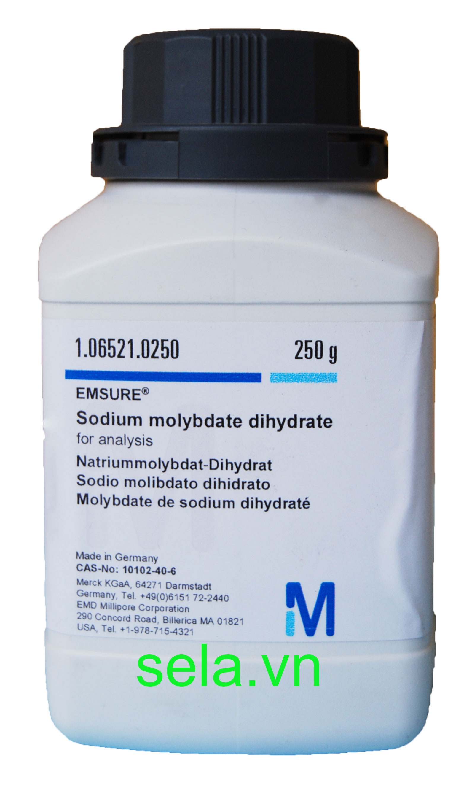 Sodium molybdate dihydrate for analysis EMSURE®