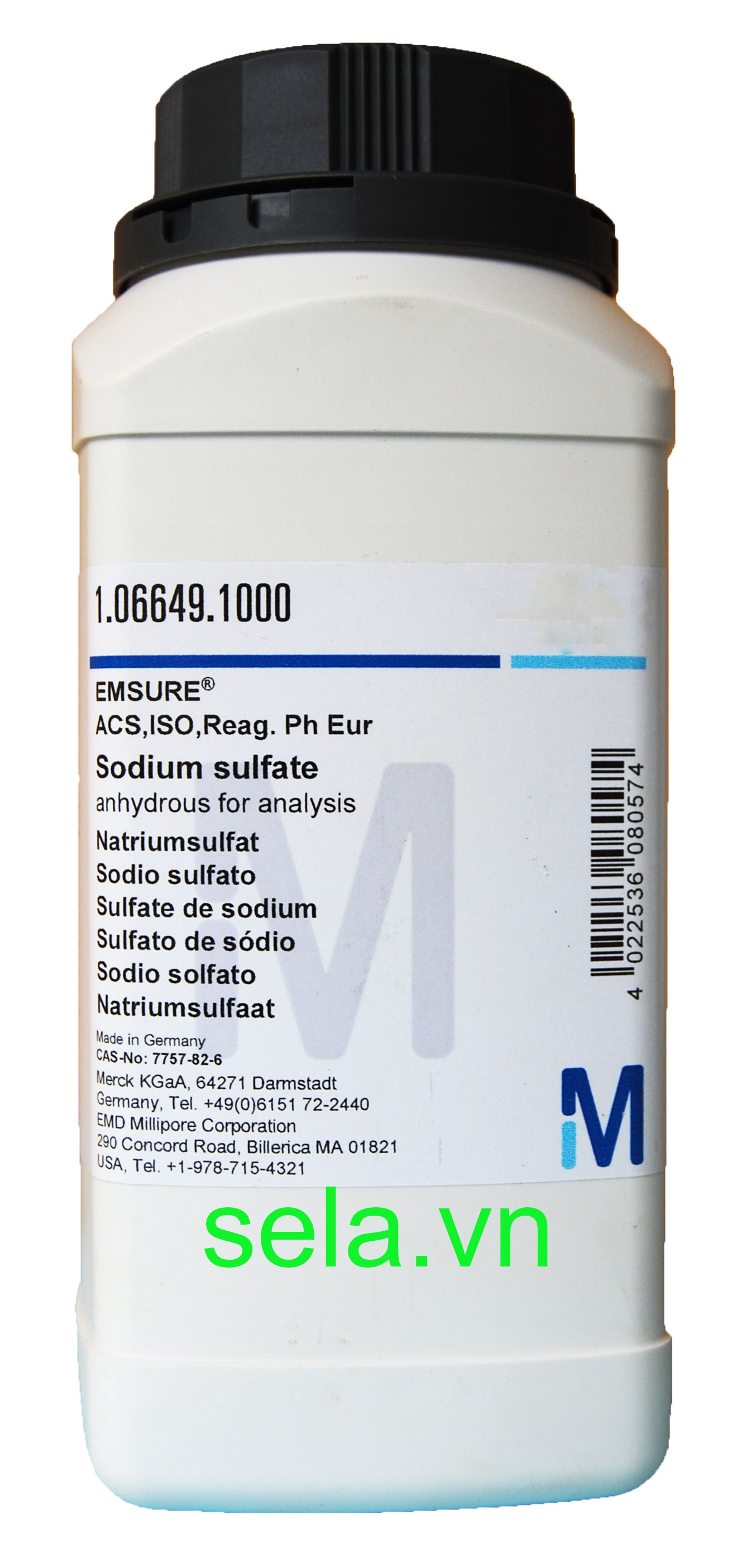Sodium sulfate anhydrous for analysis EMSURE® ACS,ISO,Reag. Ph Eur
