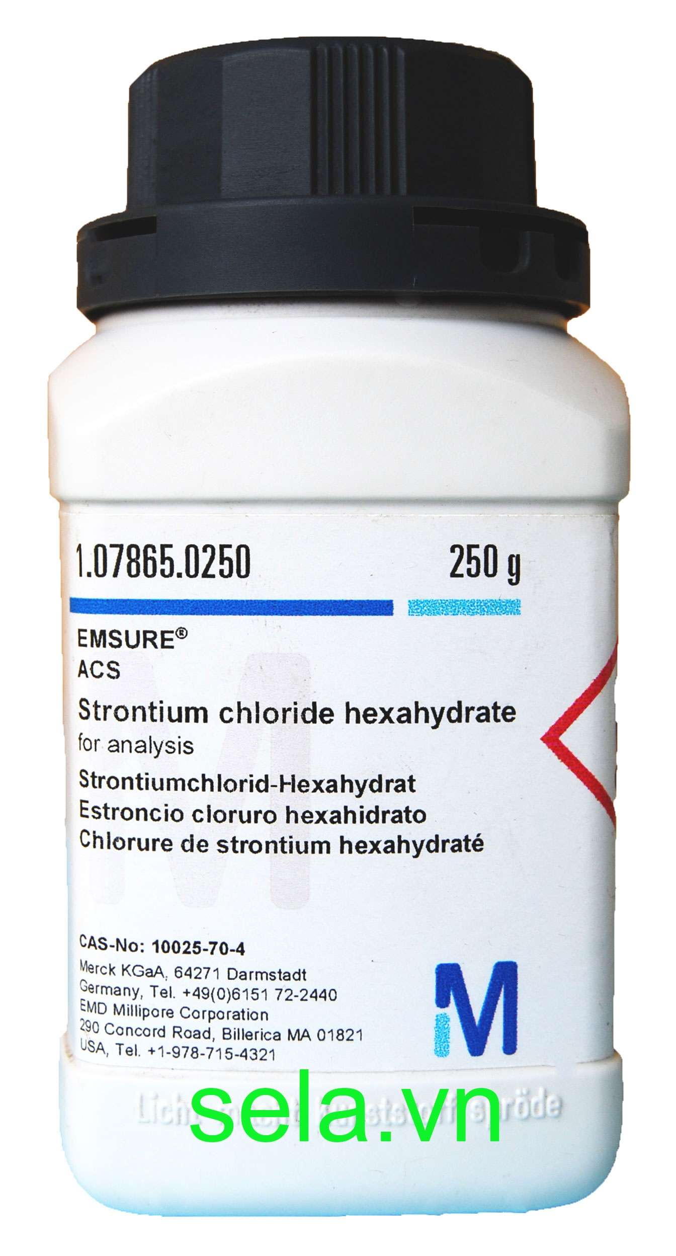 Strontium chloride hexahydrate for analysis EMSURE® ACS