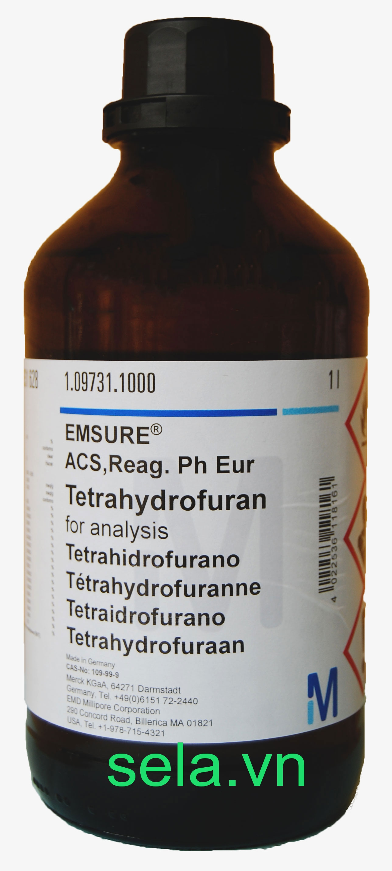 Tetrahydrofuran for analysis EMSURE® ACS,Reag. Ph Eur