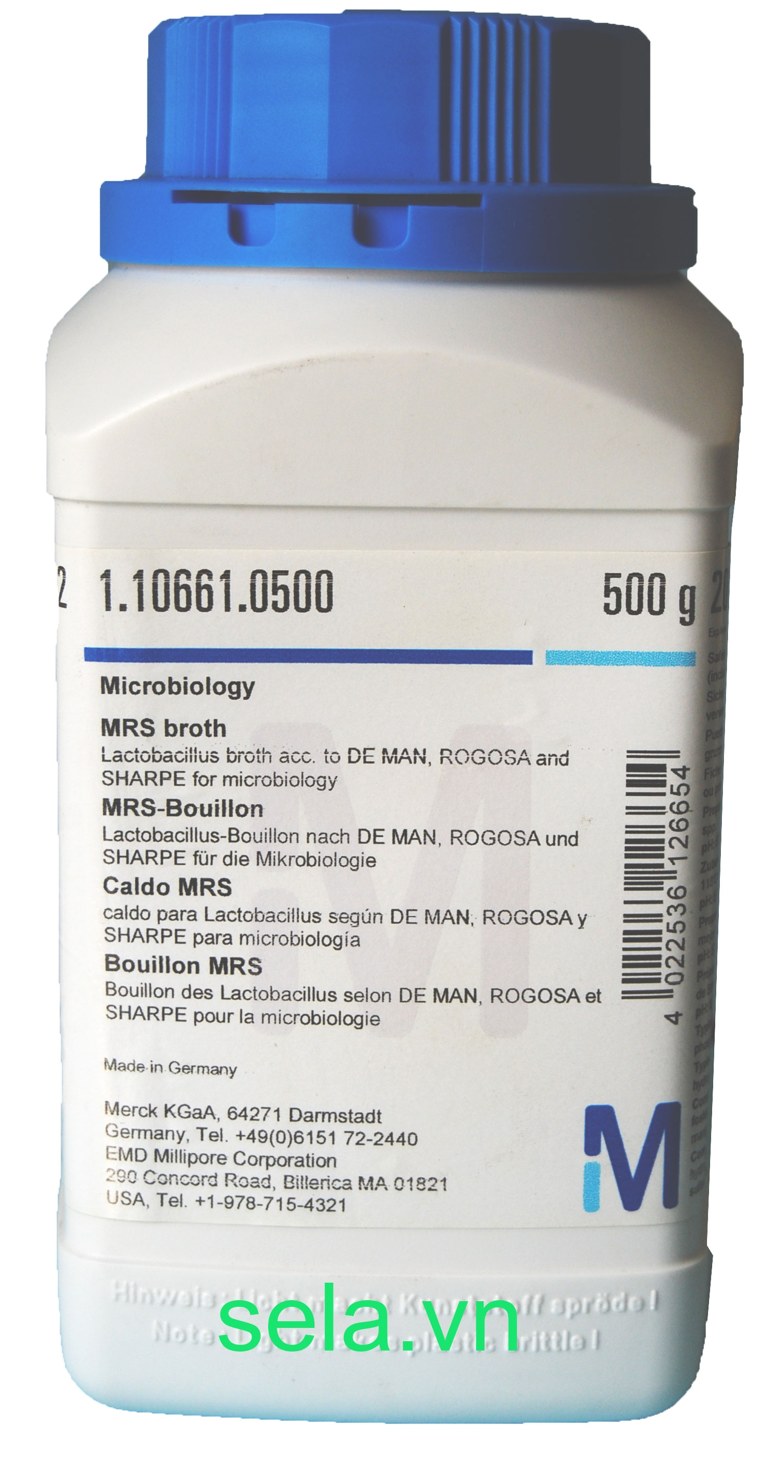 MRS broth Lactobacillus broth acc. to DE MAN, ROGOSA and SHARPE for microbiology