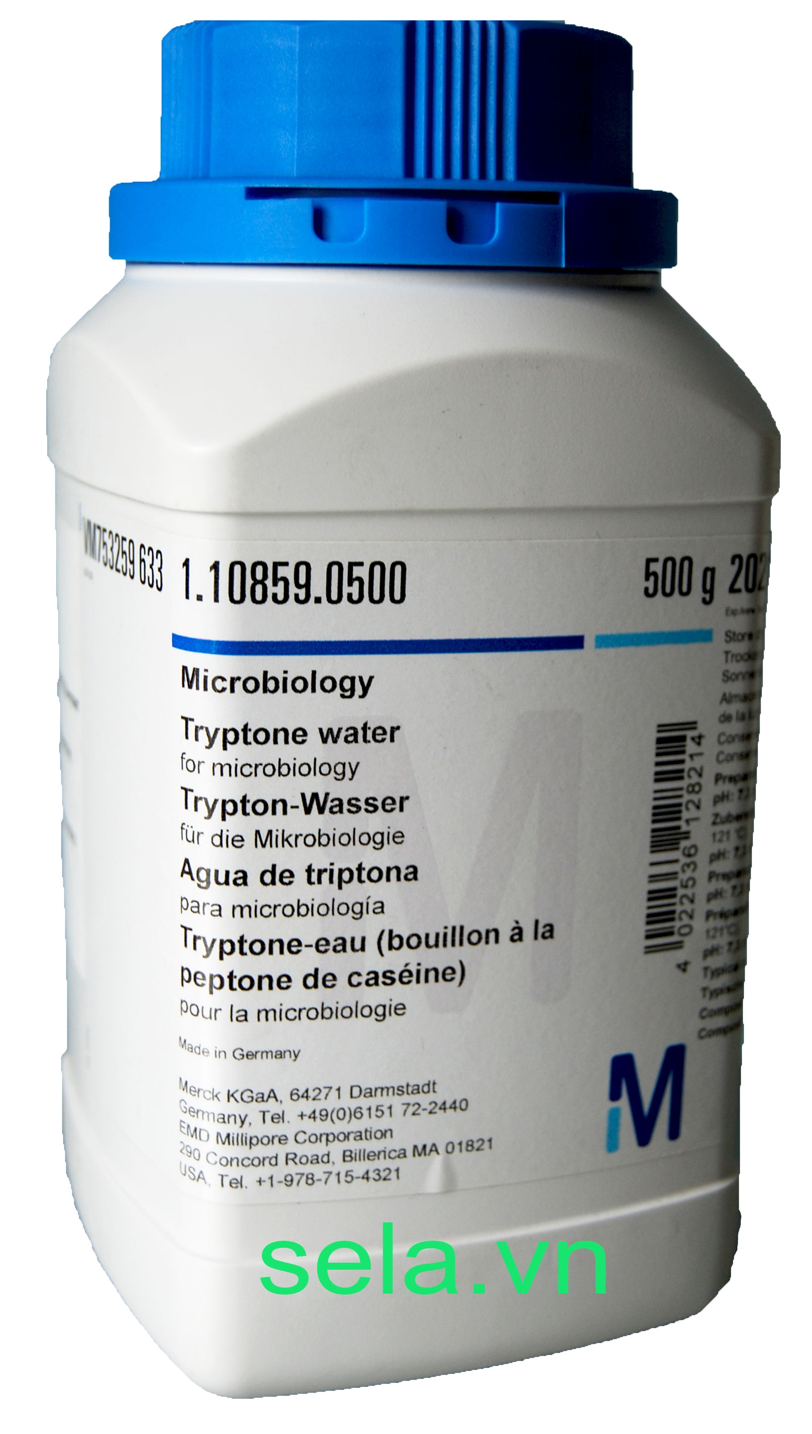 Tryptone water for microbiology