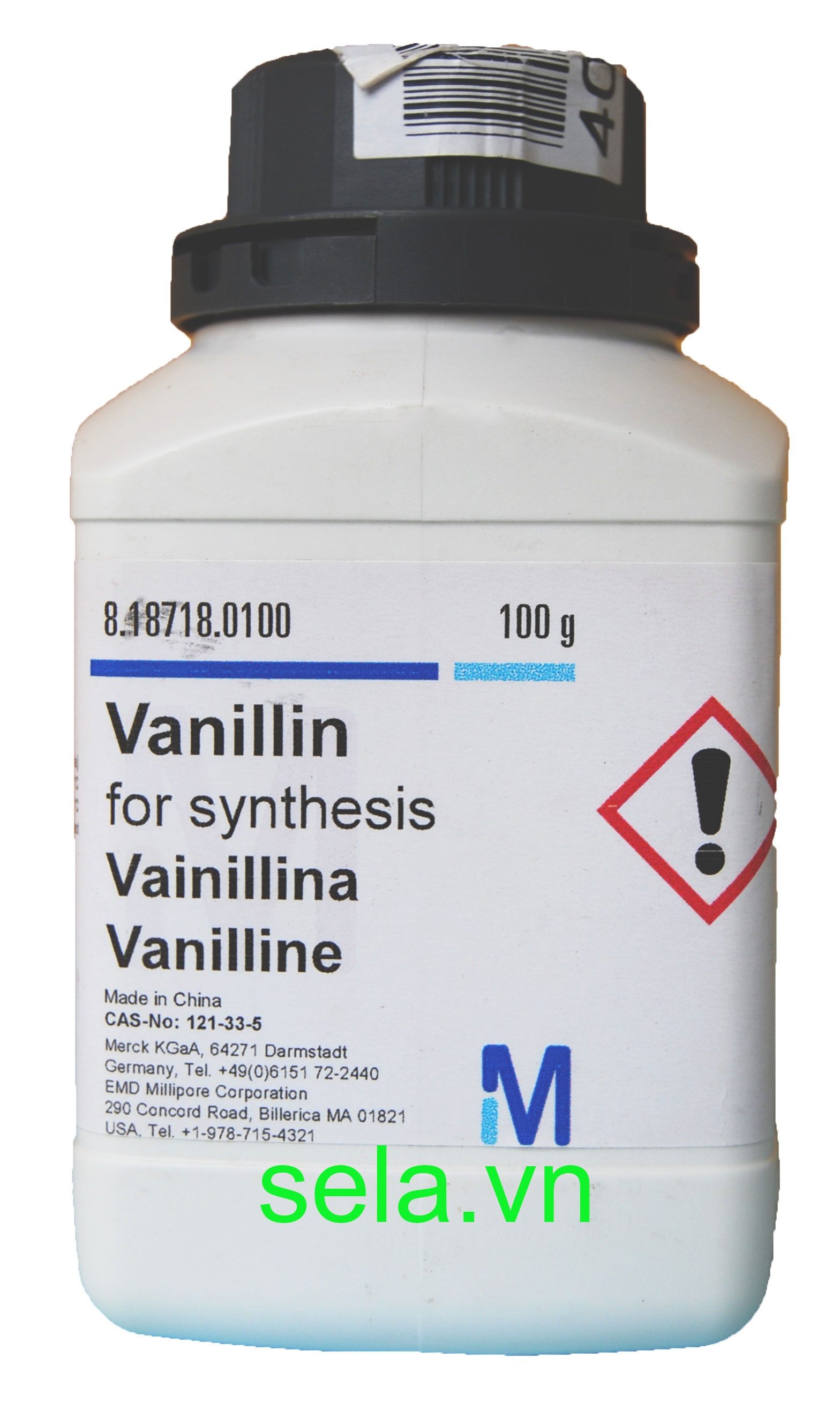 Vanillin for synthesis
