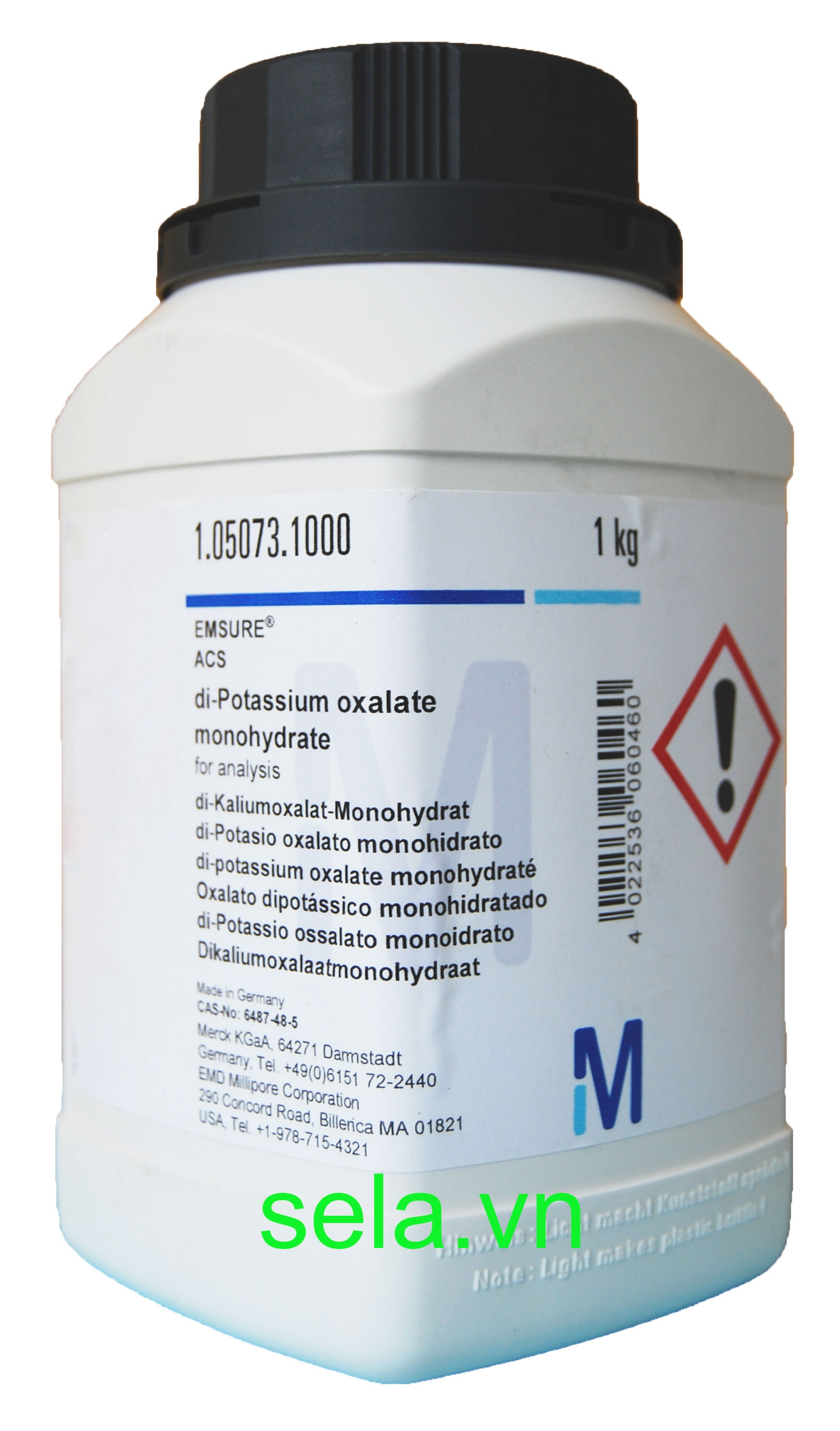 di-Potassium oxalate monohydrate for analysis EMSURE® ACS